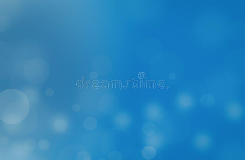 Indicatori luminosi su struttura blu di background L'estratto del nuovo anno di festa brilla fondo Defocused con le stelle e le s immagini stock libere da diritti