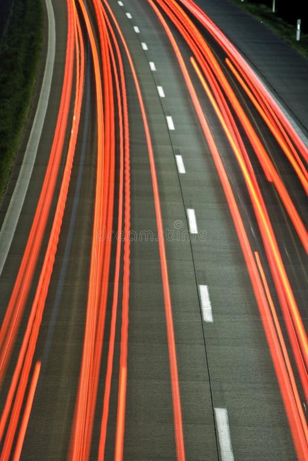 Indicatori luminosi sulla strada principale fotografie stock libere da diritti