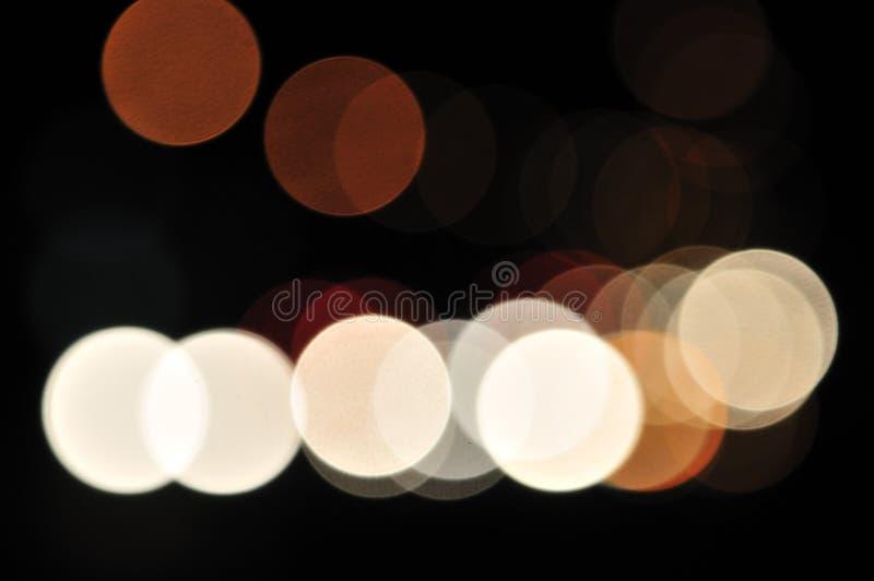 Indicatori luminosi vaghi 2 della città immagine stock
