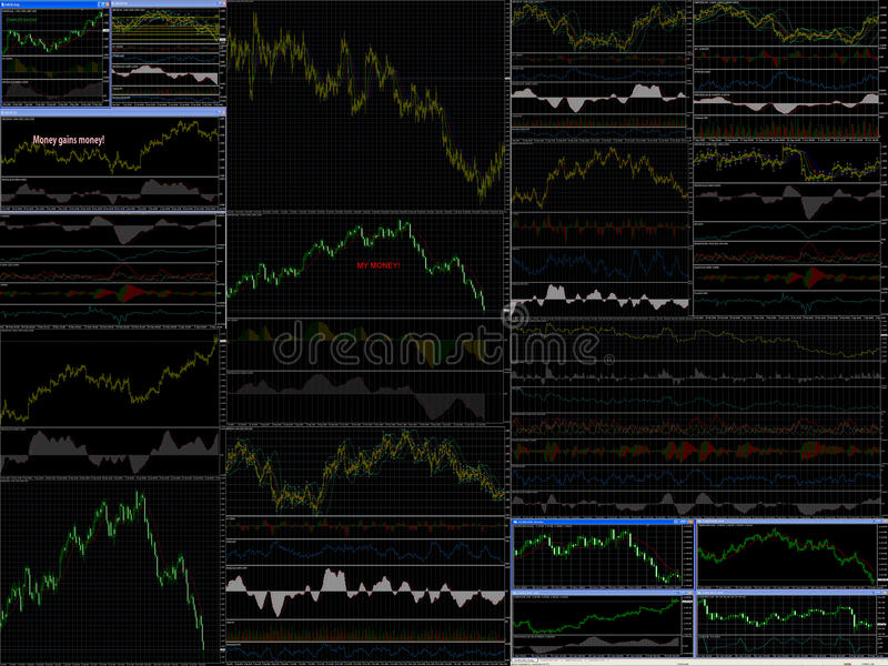 Download Indicators Of Sales Of Money And Currency Stock Illustration - Image: 12912492