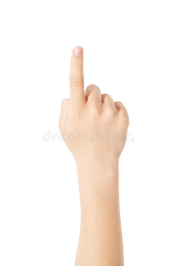 Indicatory finger stock photography