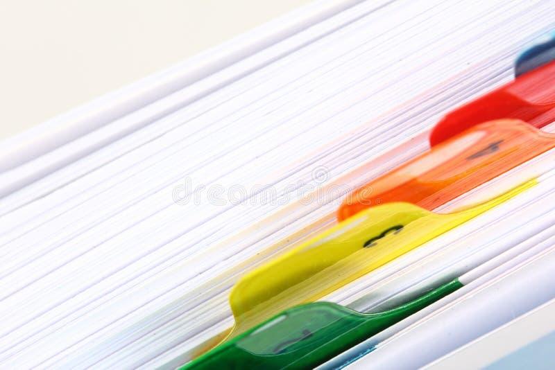 Indice analitico del libro. fotografia stock