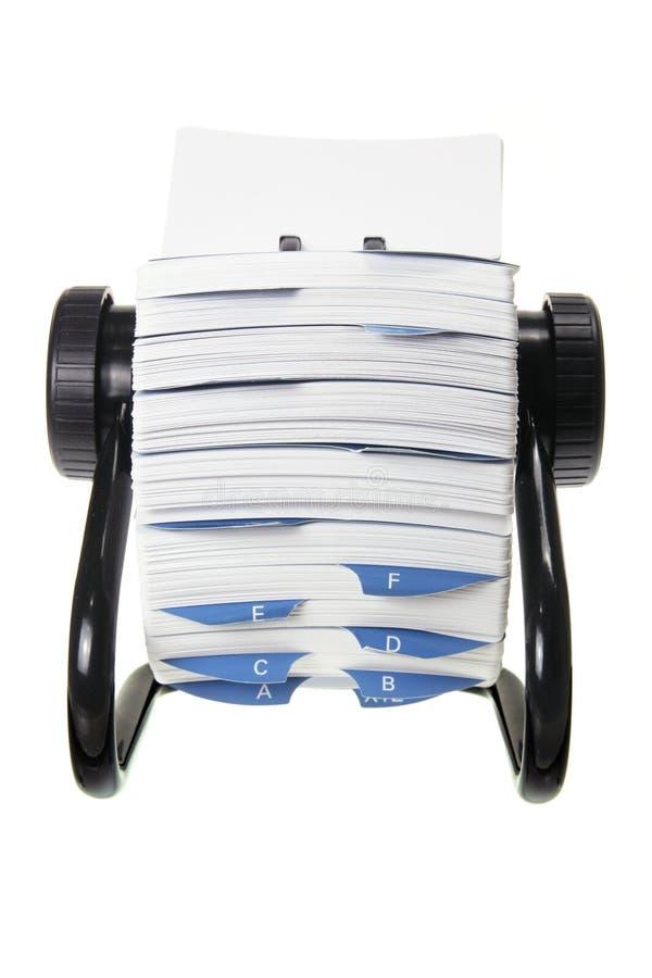 Indice analitico di scheda rotativo fotografie stock libere da diritti