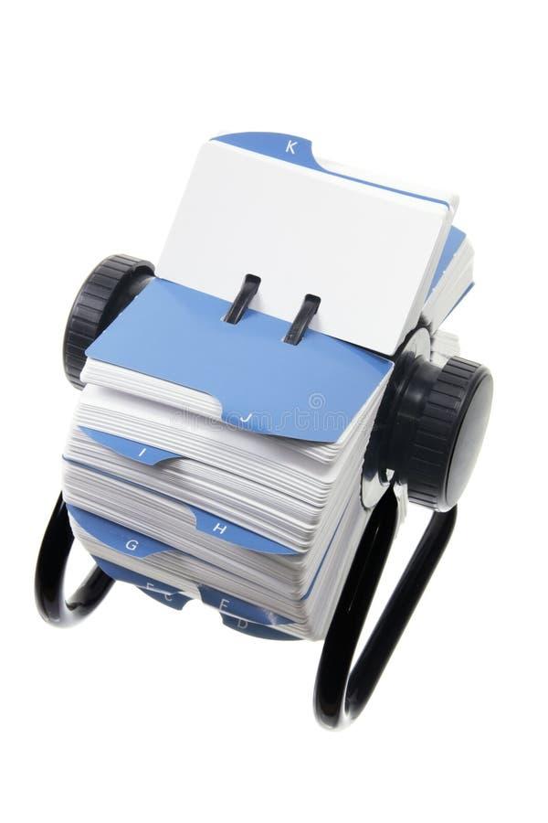 Indice analitico di scheda rotativo immagini stock