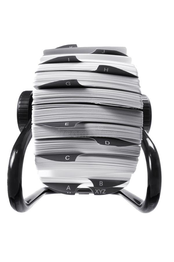 Indice analitico di scheda rotativo fotografia stock libera da diritti