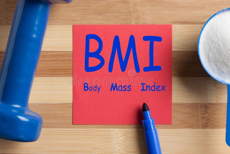 Indice di massa corporea BMI immagine stock libera da diritti