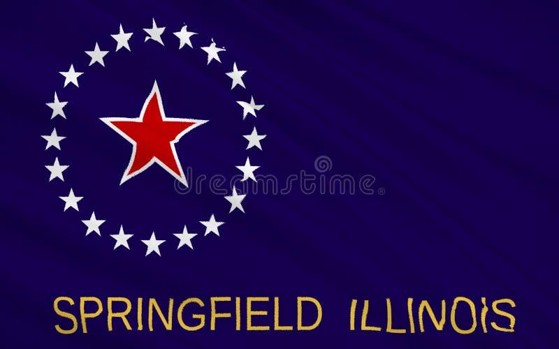 Indichi la bandiera di Springfield - città nel Midwest, la capitale di immagini stock libere da diritti