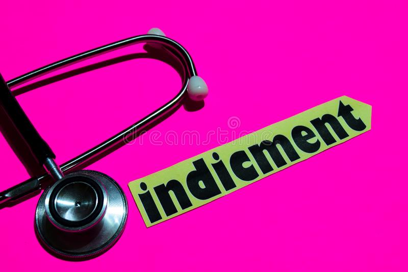 Indicment op het document met gezondheidszorg voor bejaarden-Concept royalty-vrije stock foto's