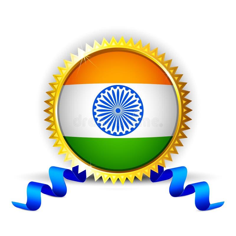 Indien-Abzeichen lizenzfreie abbildung