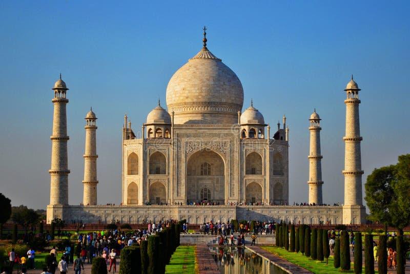 Indien Agra Taj Mahal royaltyfri foto