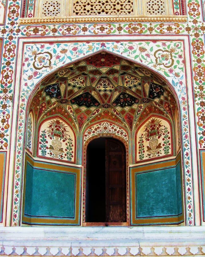Indien-Architektur-dekorative Nische stockbild