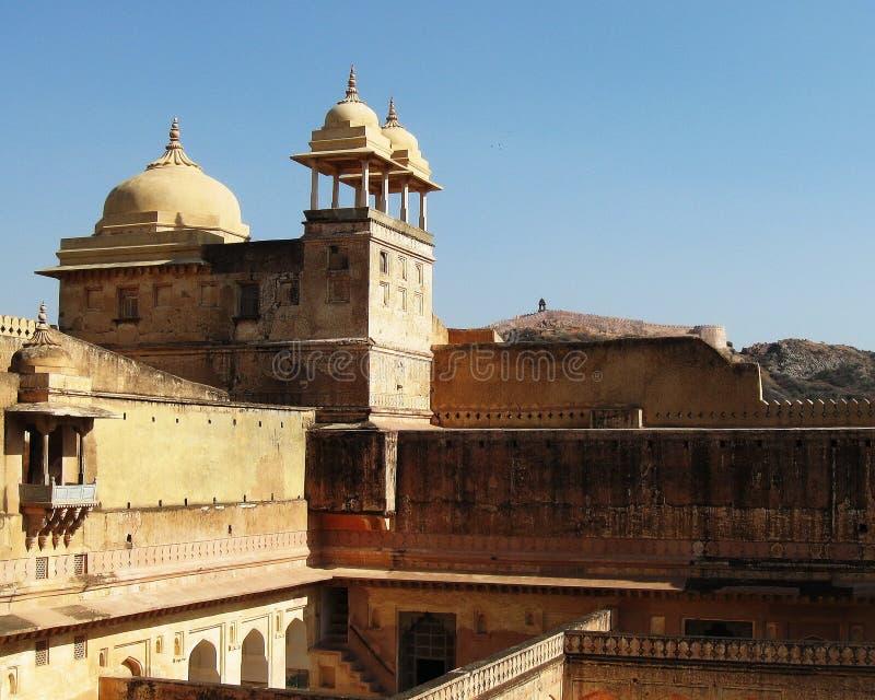 Indien arkitektur Amber Fort royaltyfria bilder
