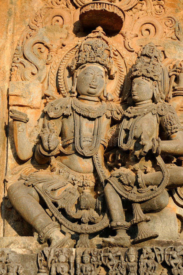 Indien, Chennakesava-Tempel in Hassan lizenzfreie stockfotos