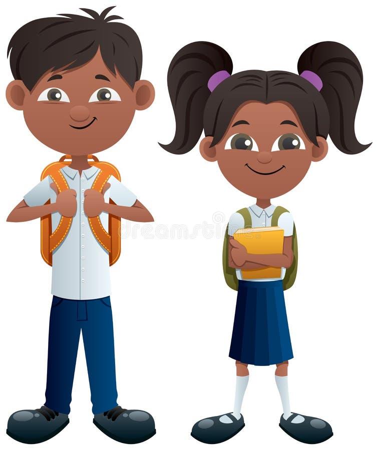 Indien d'étudiants sur blanc illustration stock