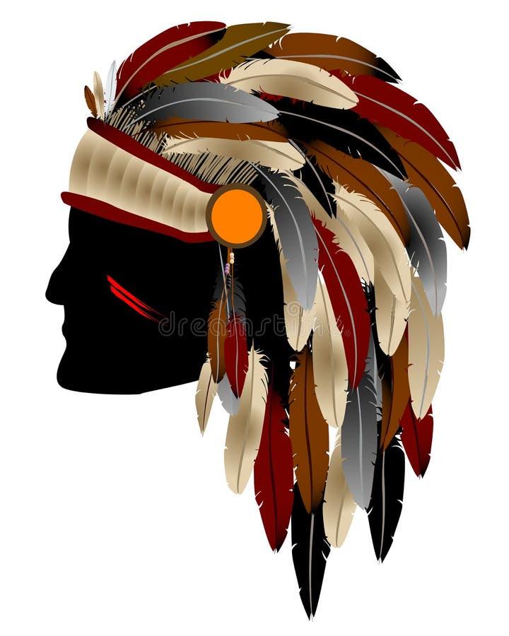 Indien d'Amerique indigène illustration de vecteur