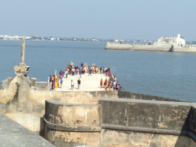 Indien-Diu in der Nähe des Meeres sieht Haft im mittleren Meer lizenzfreies stockbild