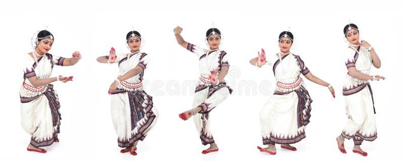 Indien féminin de danseur classique images libres de droits