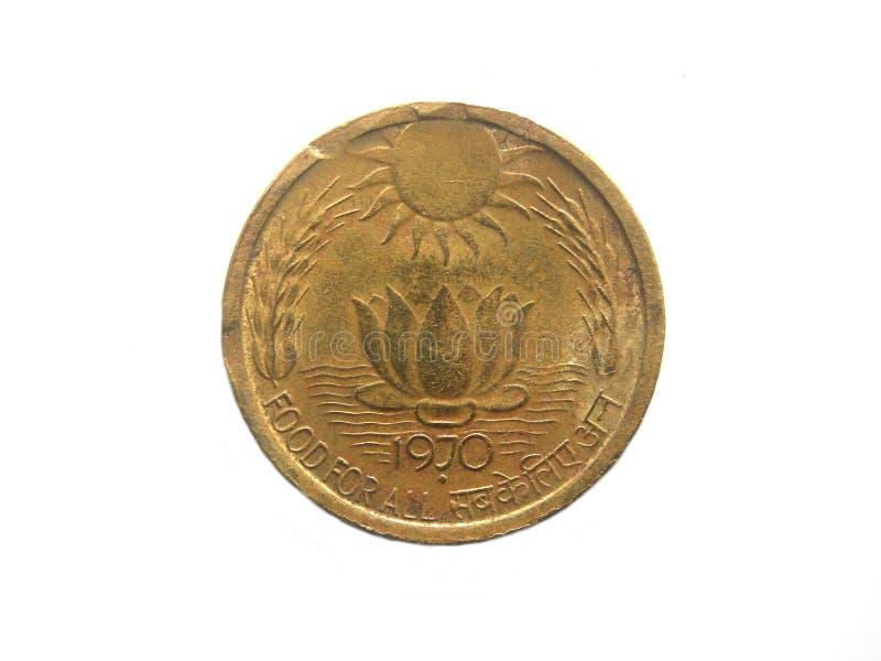 Indien för 20 paise mynt royaltyfria foton