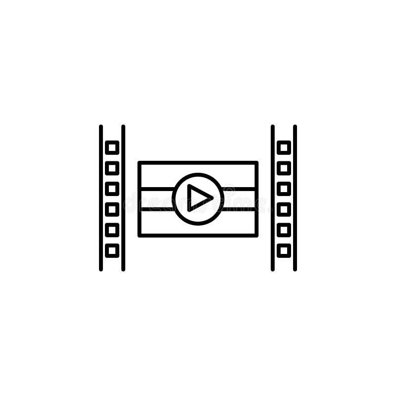 Indien filmsymbol Beståndsdel av den Indien kultursymbolen Tunn linje symbol för websitedesignen och utveckling, app-utveckling h royaltyfri illustrationer