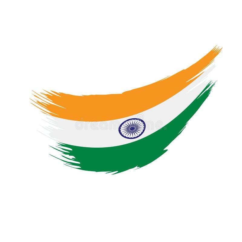 Indien flagga, vektorillustration royaltyfri illustrationer