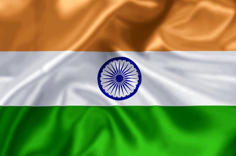 Indien flaggaillustration stock illustrationer