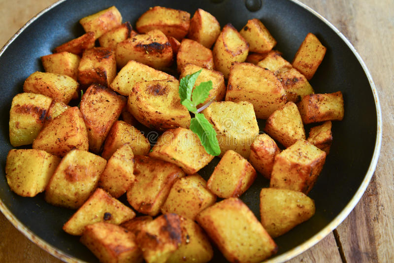 Indien Fried Potato image stock