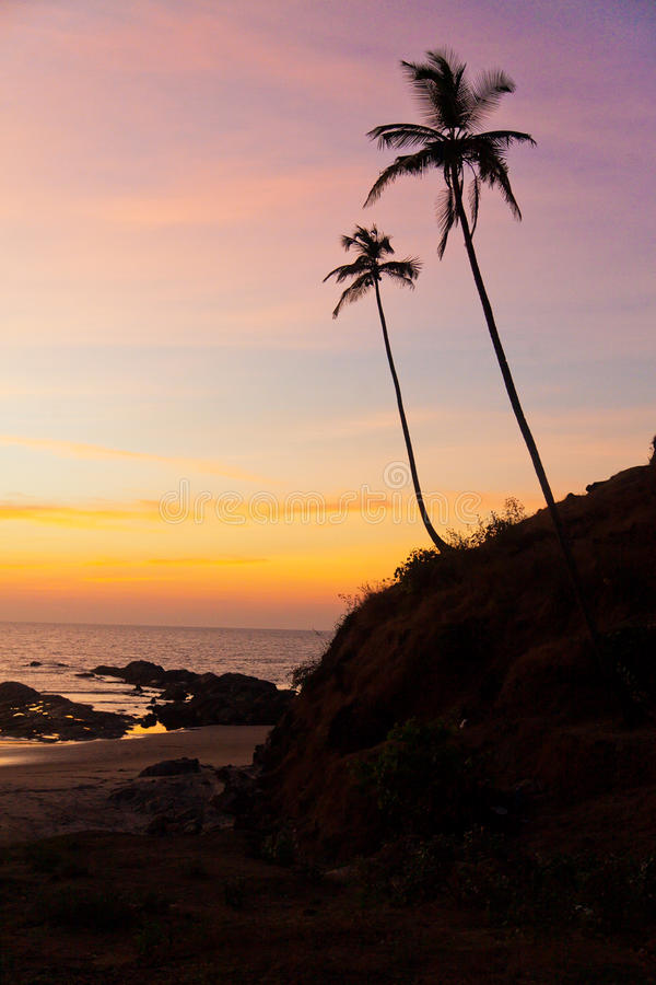 Indien - Goa - Vagator stockfotos
