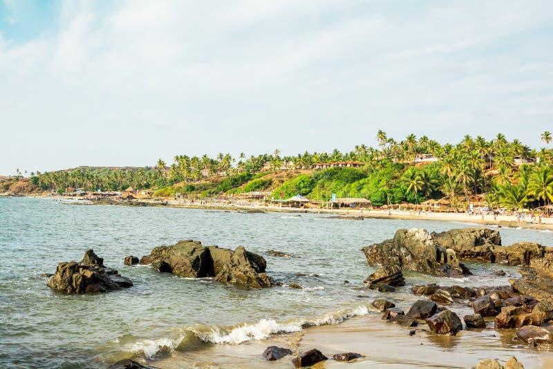 Indien, Goa, Vagator-Strand stockfotos