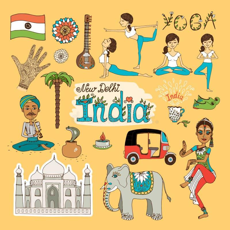 Indien gränsmärken vektor illustrationer