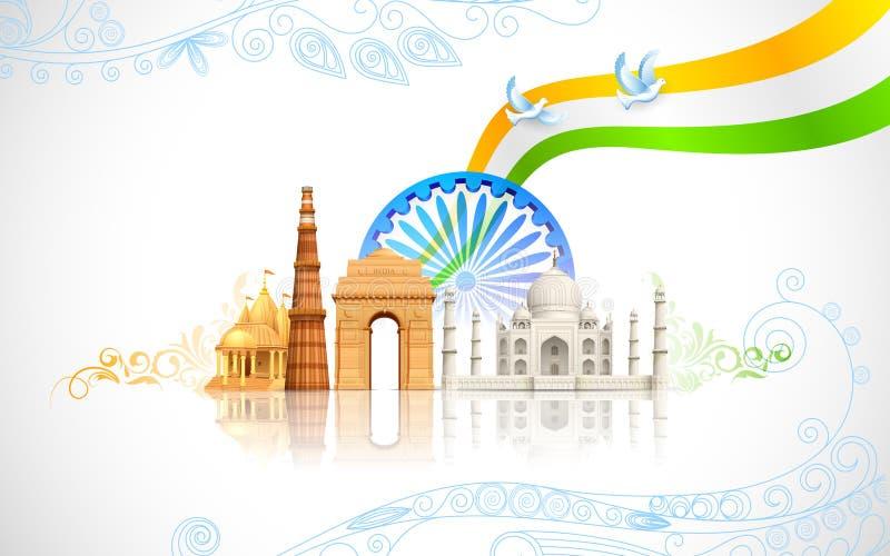 Indien-Hintergrund stock abbildung