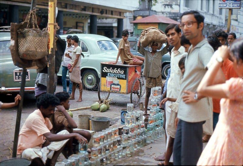 1975 Indien kalkutta Fische für Verkauf in Hong Kong stockbild