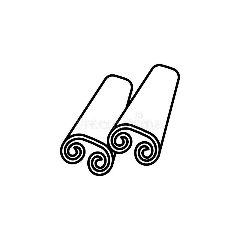Indien kanelbrun symbol Beståndsdel av den Indien kultursymbolen Tunn linje symbol för websitedesignen och utveckling, app-utveck vektor illustrationer