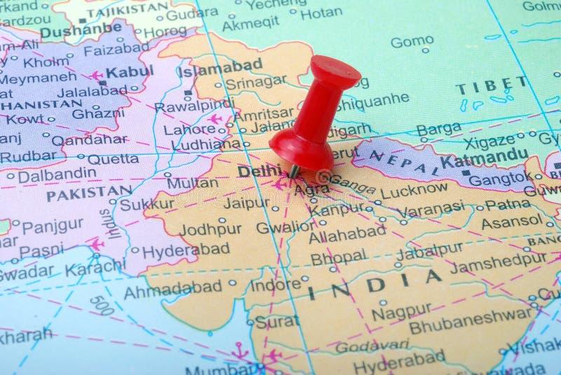 Indien-Karte stockbild