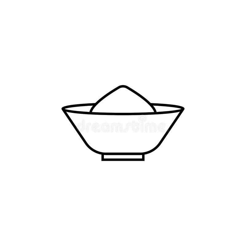 Indien kryddasymbol Beståndsdel av den Indien kultursymbolen Tunn linje symbol för websitedesignen och utveckling, app-utveckling stock illustrationer