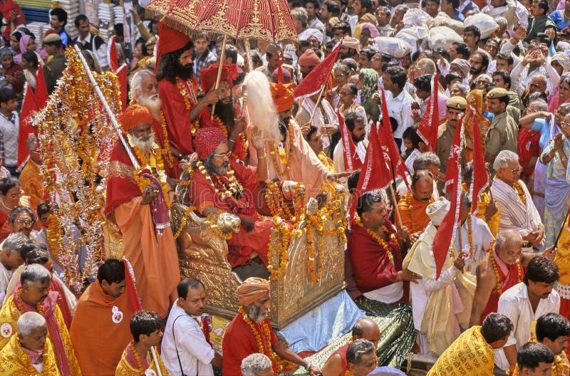 Indien Kumbh Mela lizenzfreie stockbilder