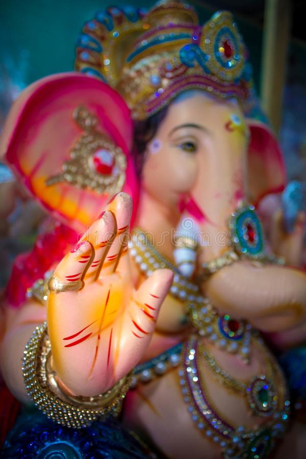 Indien Lord Ganesh Sculpting Statue images stock