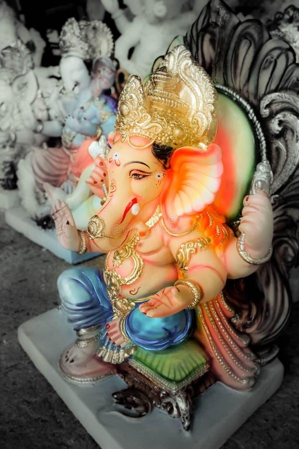Indien Lord Ganesh Sculpting Statue image libre de droits