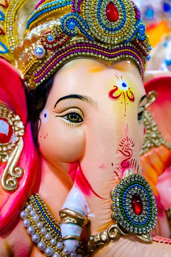 Indien Lord Ganesh Sculpting Statue photographie stock libre de droits