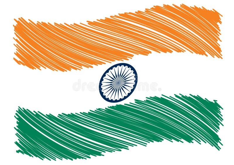 Indien-Markierungsfahnenkunst lizenzfreie abbildung