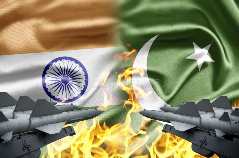 Indien och Pakistan royaltyfri bild