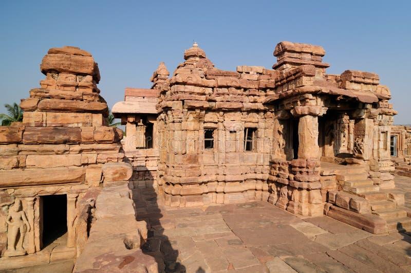 Indien-- Pattadakal Tempel stockbilder