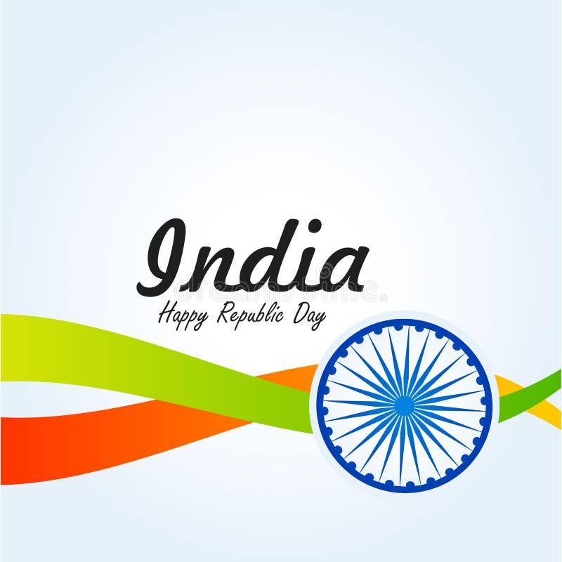 Indien republikdag 26 Januari indisk bakgrund royaltyfri illustrationer