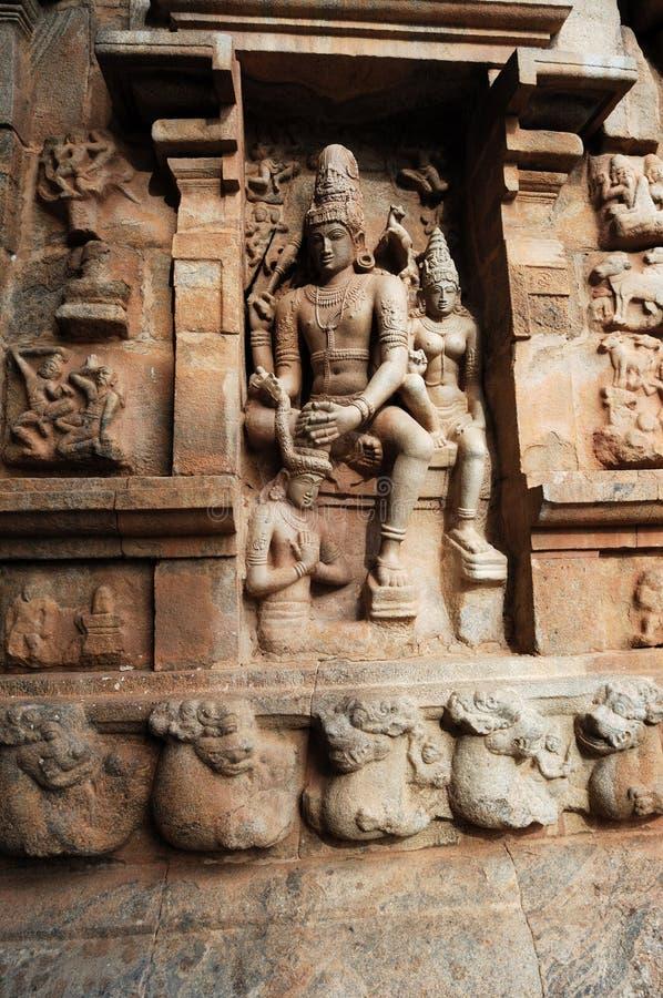 Indien Söder-Indien: Rajendracholan tempel arkivfoto