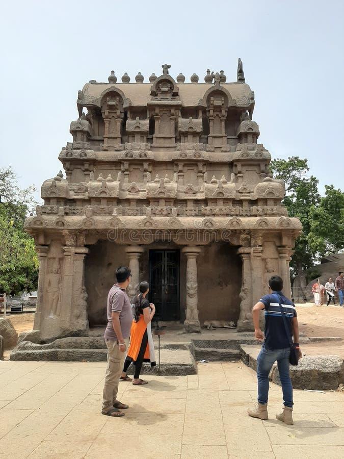 Indien södra indierShiva tempel gamla Architectur, vellore royaltyfria foton