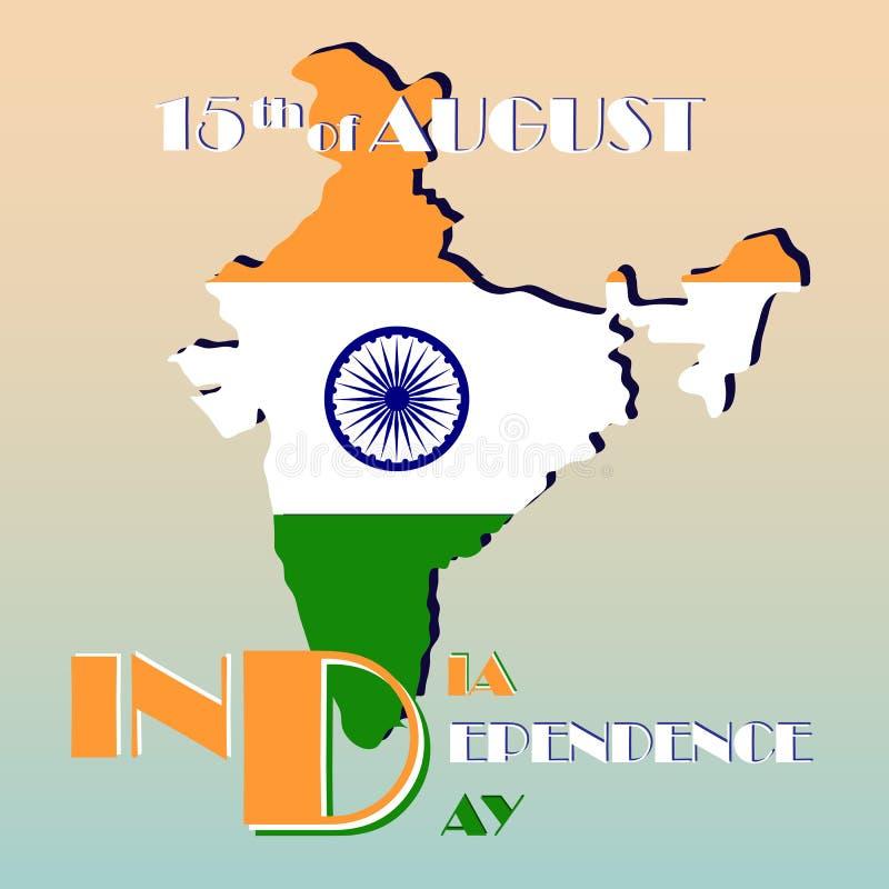 Indien självständighetsdagen vektor illustrationer