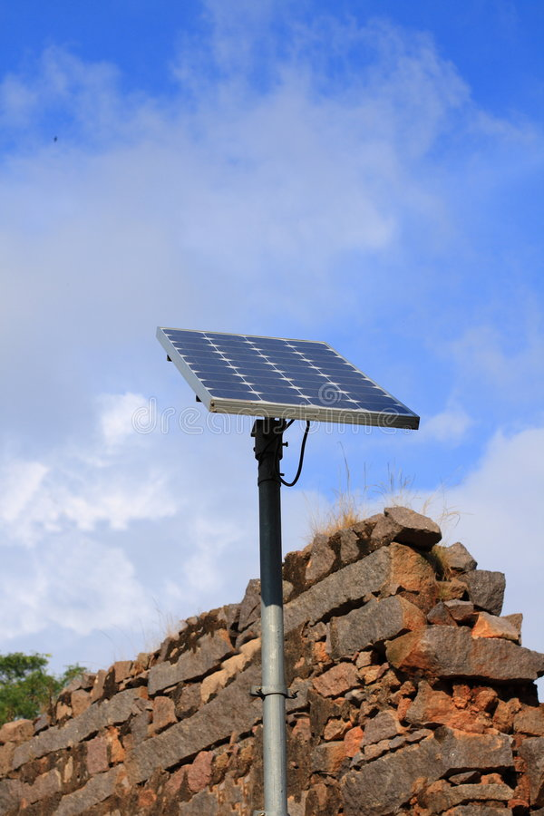 Indien-Sonnenkollektor lizenzfreies stockfoto