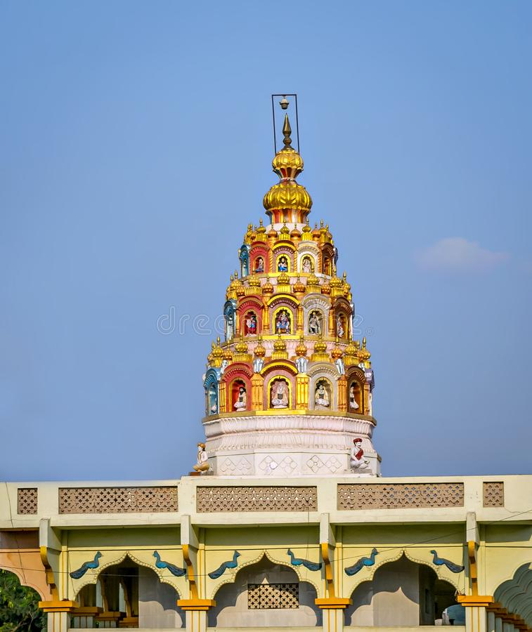 Indien tempelkupol royaltyfri fotografi