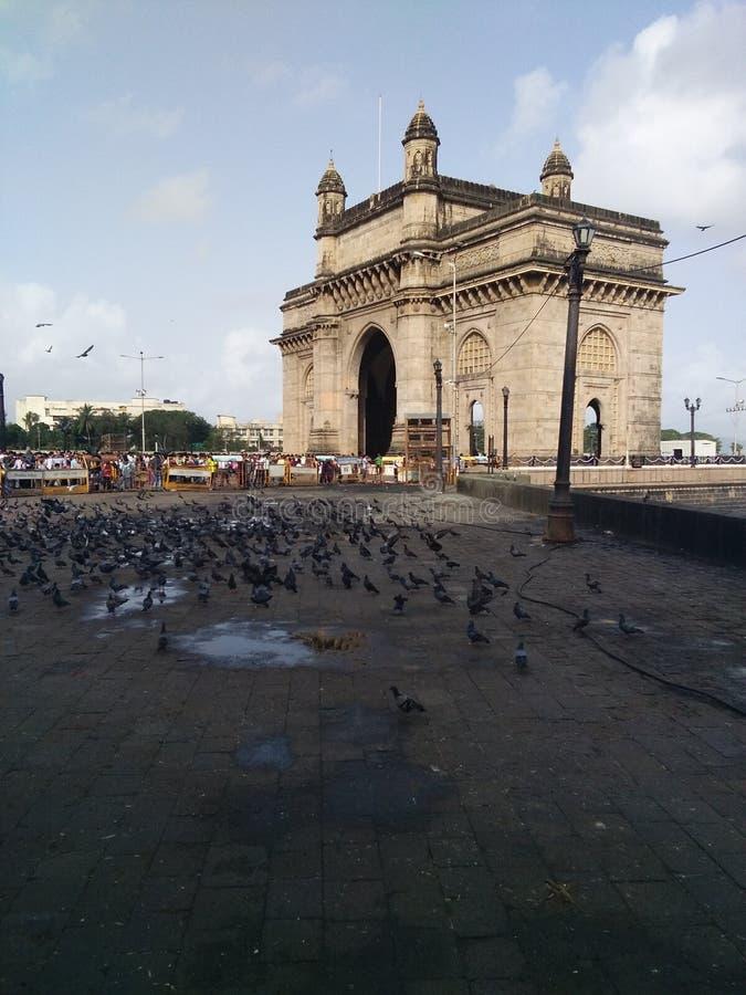 Indien-Tor bei Mumbai am Nachmittag lizenzfreie stockbilder