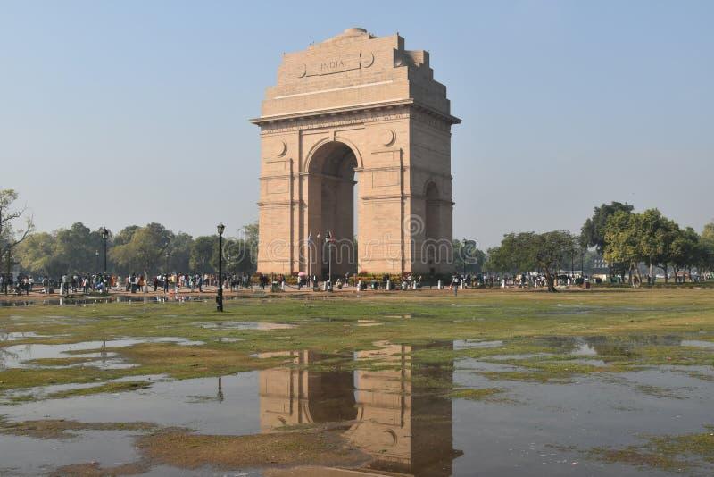 Indien-Tor, Neu-Delhi, Nord-Indien lizenzfreies stockfoto