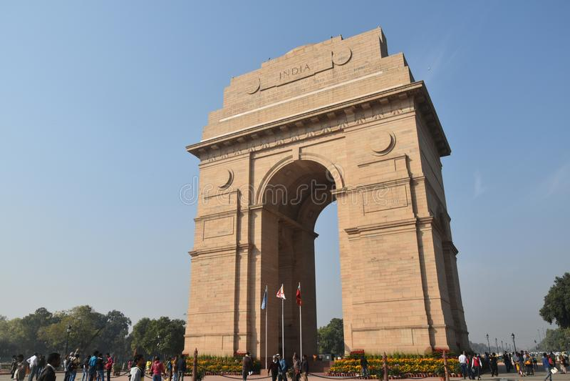 Indien-Tor, Neu-Delhi, Nord-Indien lizenzfreies stockbild